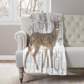 COZY COLLECTION - WILDLIFE MICROMINK THROW - Doe