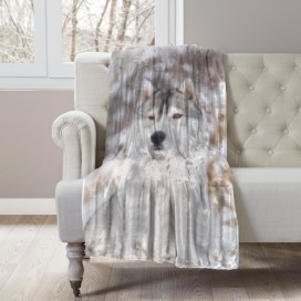 COZY COLLECTION - WILDLIFE MICROMINK THROW - Husky
