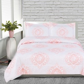 India Printed Microfiber Comforter Set 3pcs